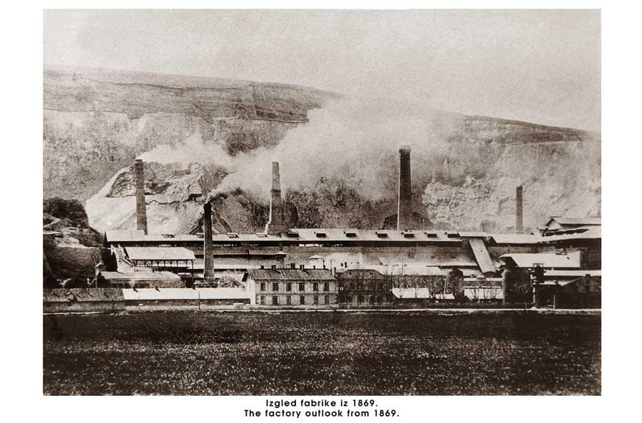 Izgled Beočinske fabrike iz 1869.